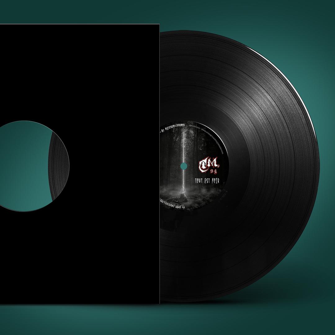 Ralisation du visuel et du disque vinyle TM94 produit parhellip