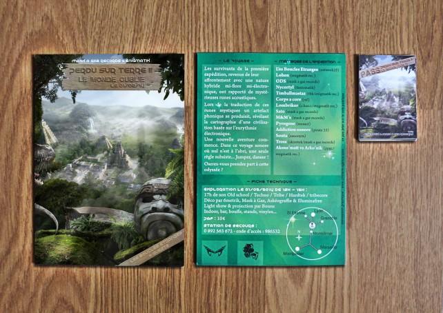 1 flyer#perdu sur terre II-mask a gaz records-graphisme chimere copie