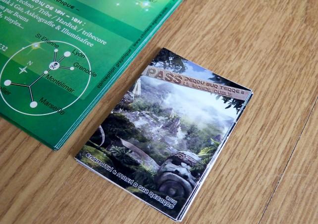 2 flyer#perdu sur terre II-mask a gaz records-graphisme chimere2