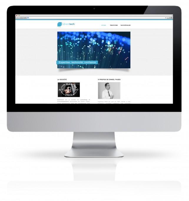 Accueil du site internet vitrine réalisé par l'agence Chimère. Site web en responsive design.