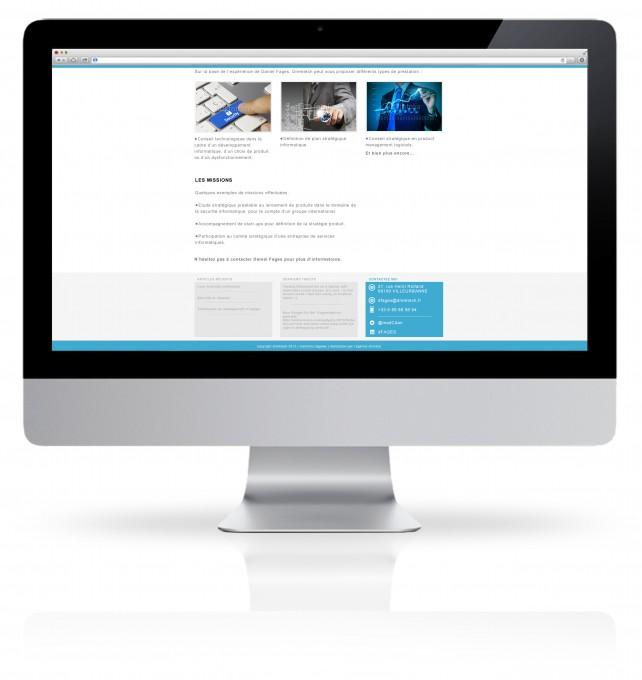 Site internet vitrine réalisé par l'agence Chimère.