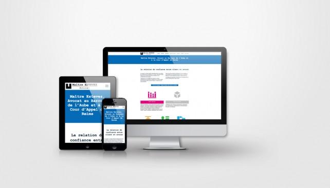 Site internet pour Avocat en responsive design. Réalisation par l'agence Chimère. Conception graphique et webdesign.