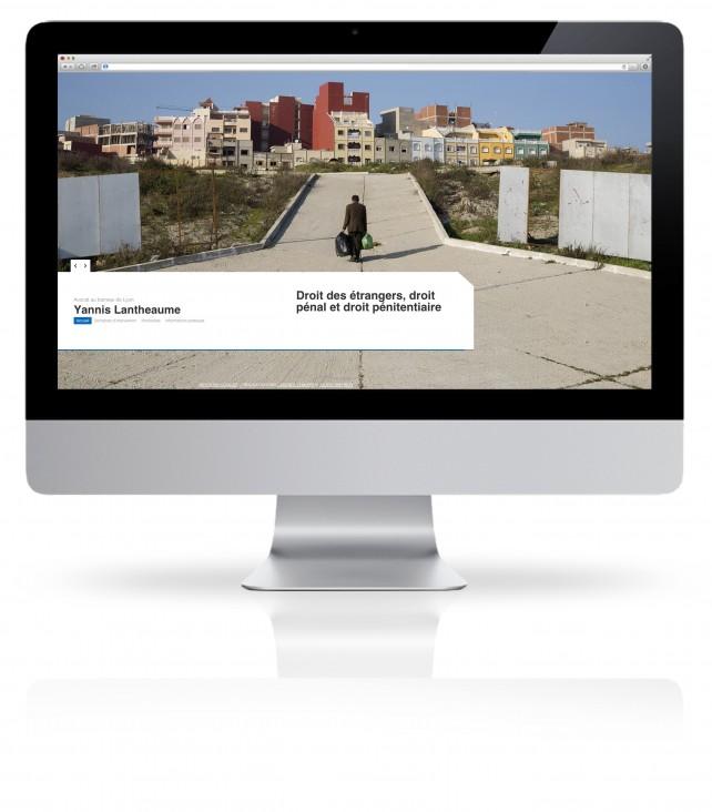 Site internet pour Avocat. Réalisation par l'agence Chimère. Graphiste indépendant