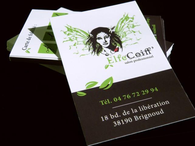 elfe coiff-carte de visite et carte fidelite-graphisme chimere