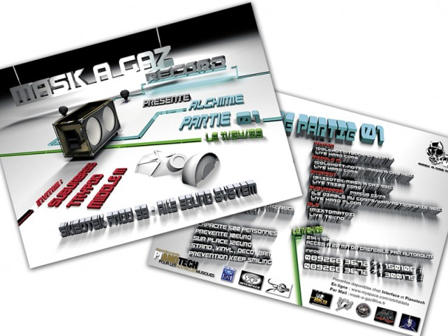 mask a gaz records-flyer#1-graphisme chimere