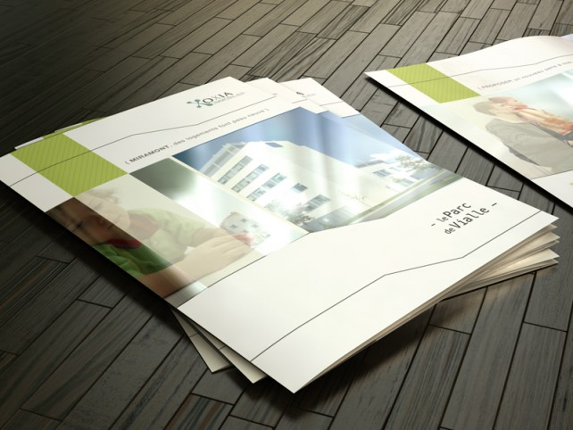 oxia-depliant immobilier couverture-graphisme chimere