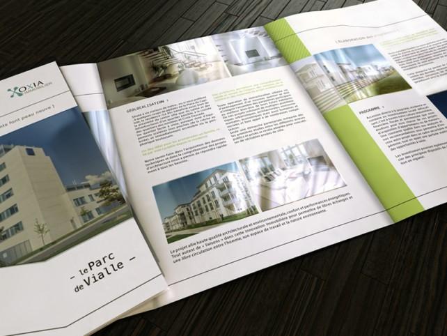 oxia-depliant immobilier intérieur-graphisme chimere