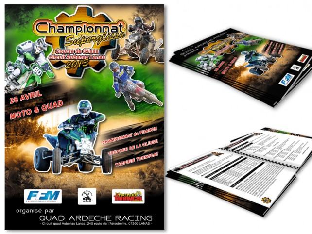 quad ardeche racing-affiche+livret-création agence chimere