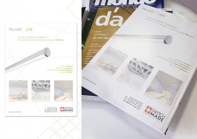 Annonce presse, publicité parue dans le magazine d'architecture D'A. Conception graphique par l'agence Chimère.