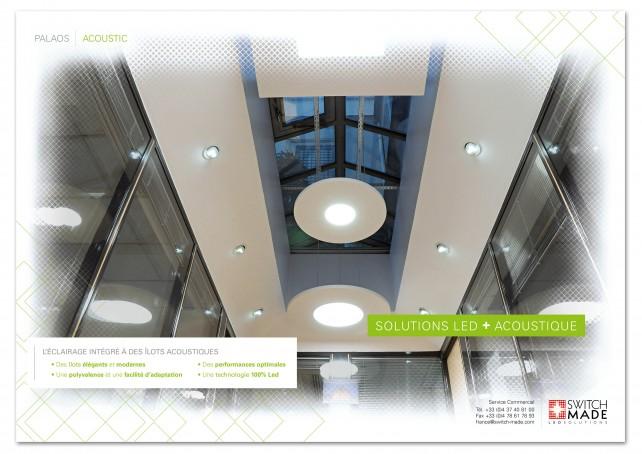 Dépliant promotionnel et dépliant d'entreprise, sous forme de poster encarté dans le magazine d'architecture D'A. Dépliant promotionnel réalisé par l'agence Chimère.