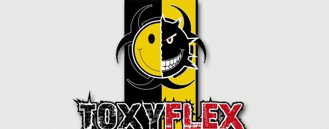 Logo du dj ToxyFlex. Réalisation graphique par l'agence Chimère.