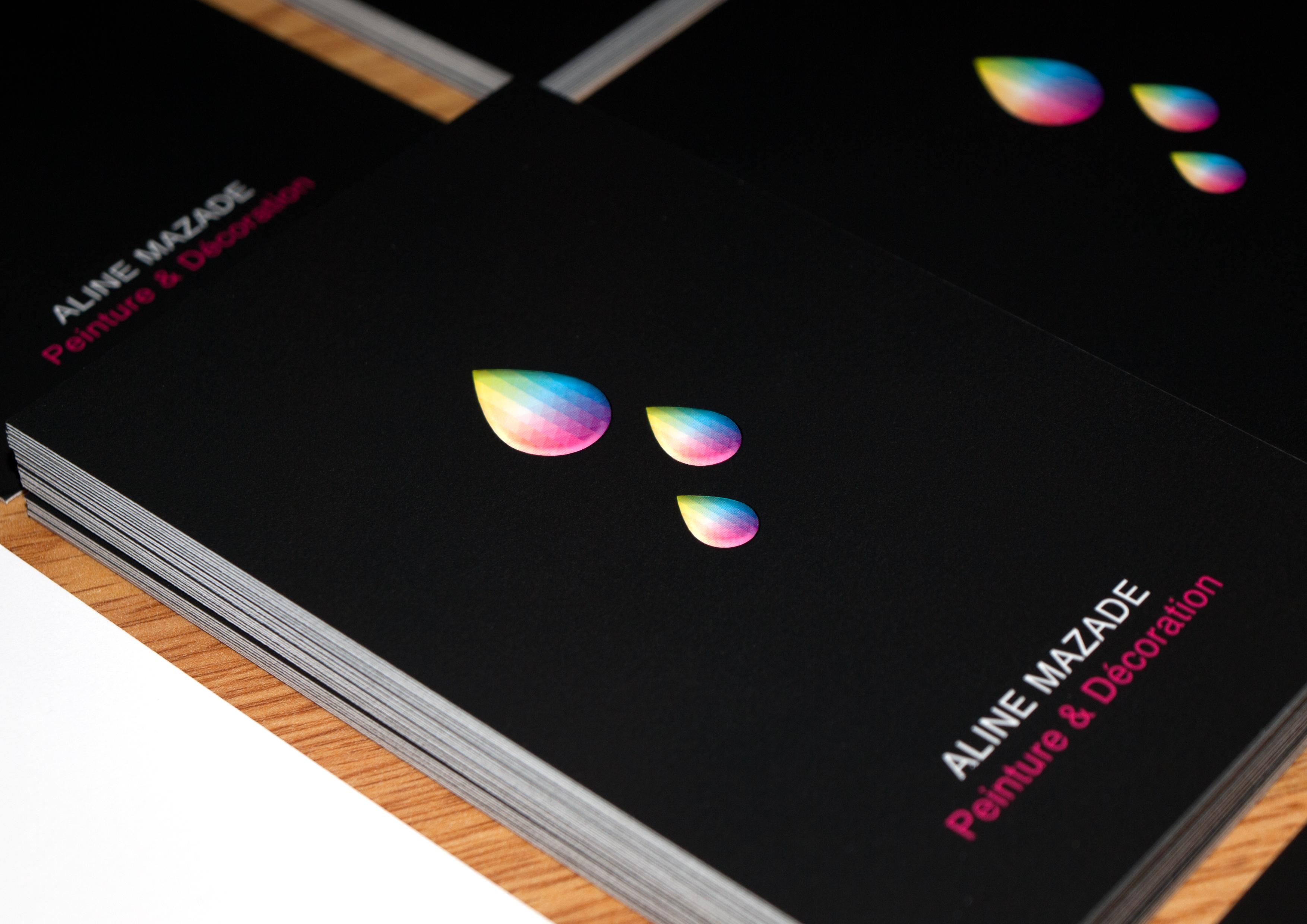 Carte De Visite Design Aline Mazade Peintre Et Dcorateur Dintrieur Conception Graphique