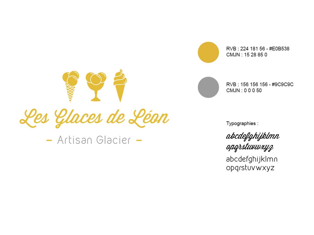 les glaces de léon – logo validé vectorisé